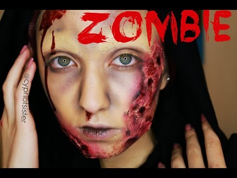 ZOMBIE TRANSFORMATION MAKEUP TUTORIAL. | Cypriot Sister
