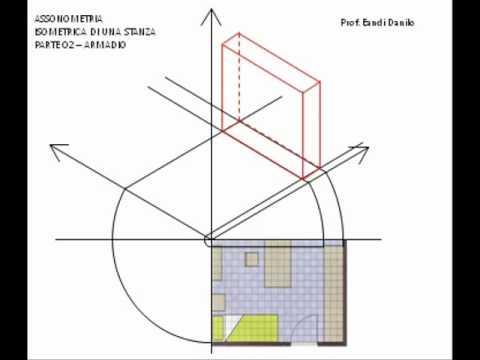 Assonometria isometrica stanza 02 armadio youtube for Stanza armadio