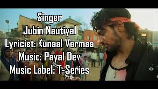 Tere Jaane Ka Gum||Tum hi aana||Marjaanvaan full lyrical song