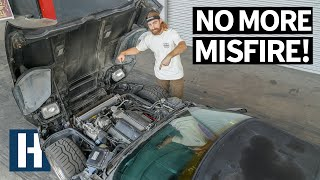 Abandoned Corvette C4 Runs Again! Making a Scrapyard Corvette Daily Drive-able