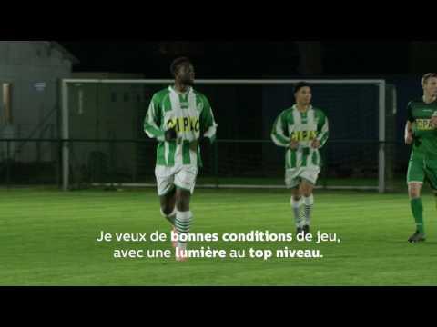 Eclairage LED De Philips Lighting Au Stade De Football De RJ Wavre