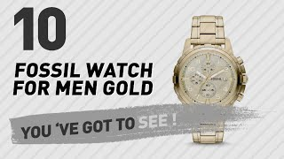 Top 10 Fossil Watch For Men Gold // New & Popular 2017