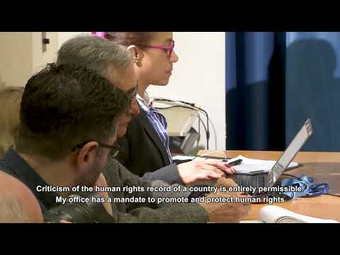 UN High Commissioner for Human Rights - Press conference