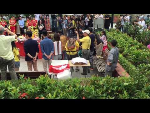 2016.5.15 12:35  Traditional Chinese Praying and Opening District Office ceremony in Tai Wai Village
