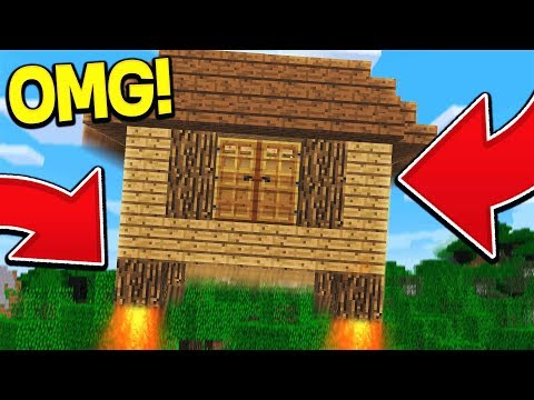 THIS MINECRAFT HOUSE CAN FLY!?