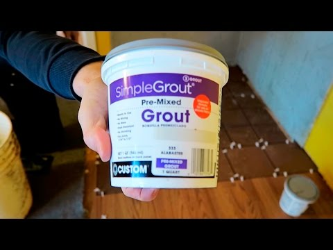 How to Apply Grout - Pre-Mixed SimpleGrout Basic Masonry Tutorial