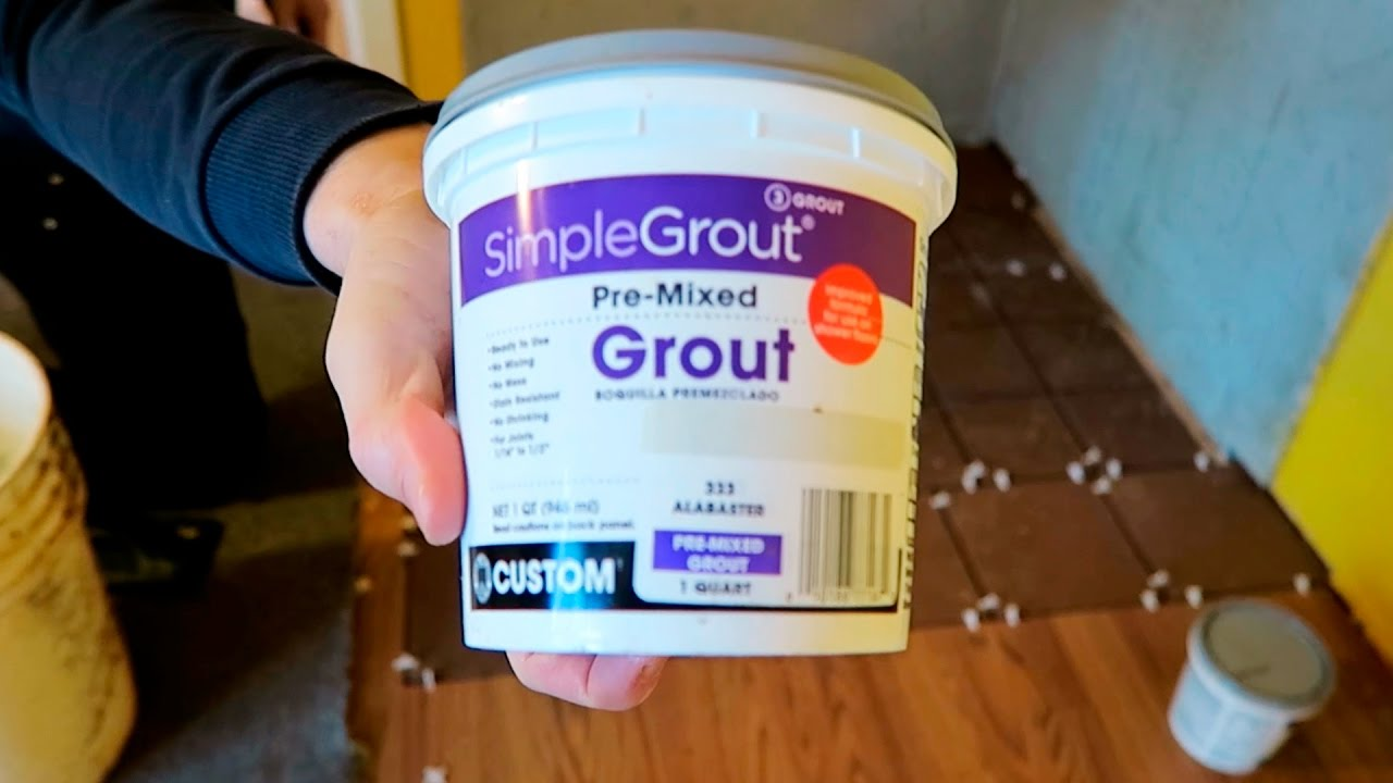 How to Apply Grout - Pre-Mixed SimpleGrout Basic Masonry Tutorial - YouTube