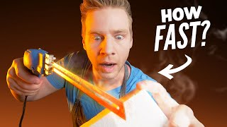 HOT KNIFE Foam Sculpture - SPEED CHALLENGE!!