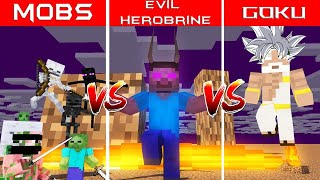 MONSTER SCHOOL : (SPECIAL )MOBS VS EVIL HEROBRINE VS GOD - Minecraft Animation