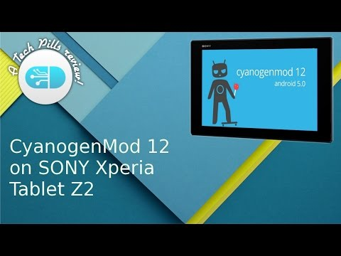 CyanogenMod12 on SONY Xperia Tablet Z2