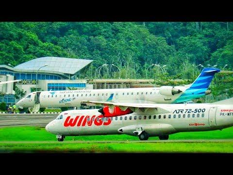 Proses Pendaratan Pesawat Terbang Wings Air (Pesawat Terbang Indonesia)
