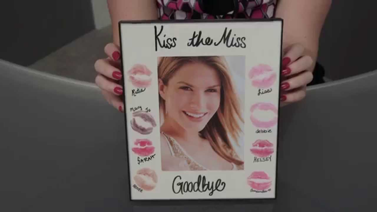 Gift Idea For The Bride Kiss Frame Youtube