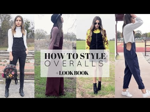 How To Style Overalls + LOOK BOOK