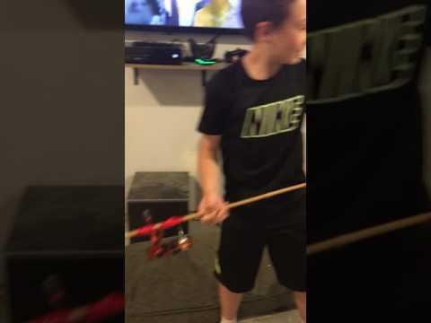 New fishing rod(homemade)😱😱😱😱