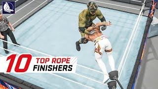 WWE 2K19 Top 10 Craziest Finishers Off the Top Rope