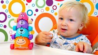 Дада игрушки - видео для малышей. Развивающие игрушки поезд животных