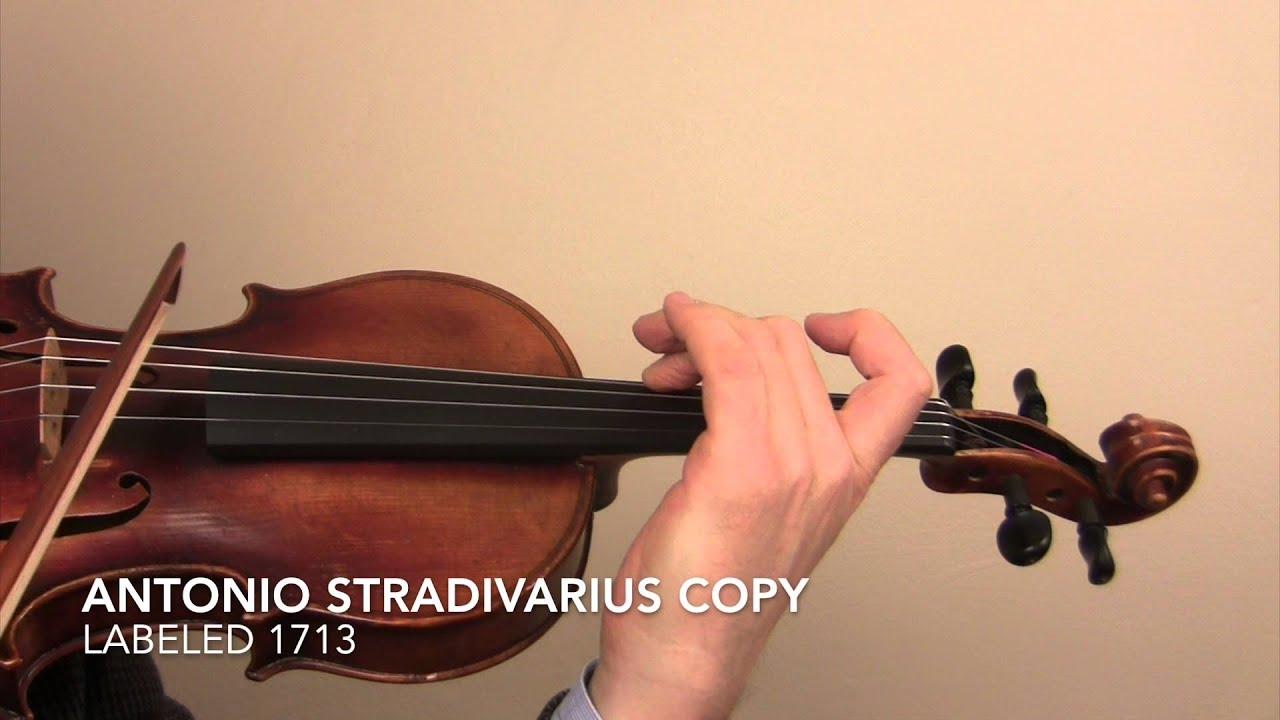 Antonio Stradivarius Copy 1713 Youtube