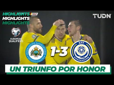 Resumen y Goles | San Marino 1 - 3 Kazajistán | UEFA EURO Qualifiers - G-I -J9 | TUDN