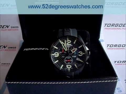 5948a54fcf6 Torgoen T16302 Swiss Professional Pilots Watch