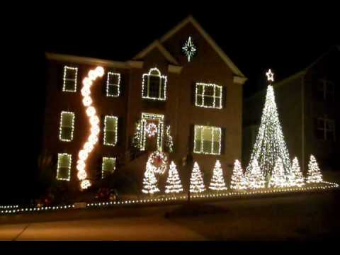 Christmas Lights dancing to Amazing Grace in Nashville, TN