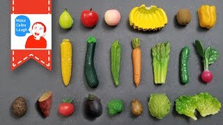 Learn Fruits and Vegetables Name for kids with Calbe Lego in supermarket