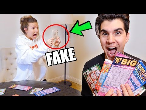 FAKE LOTTERY TICKET PRANK ON GIRLFRIEND! **FUNNIEST REACTION EVER**
