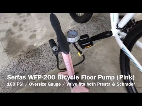 Serfas WFP 200 Womenu0027s Bicycle Floor Pump (Pink)