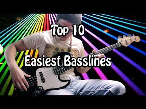 Top 10 Easiest Basslines