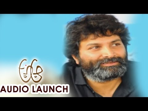Trivikram Srinivas AV at A Aa Audio Launch || Nithiin, Samantha