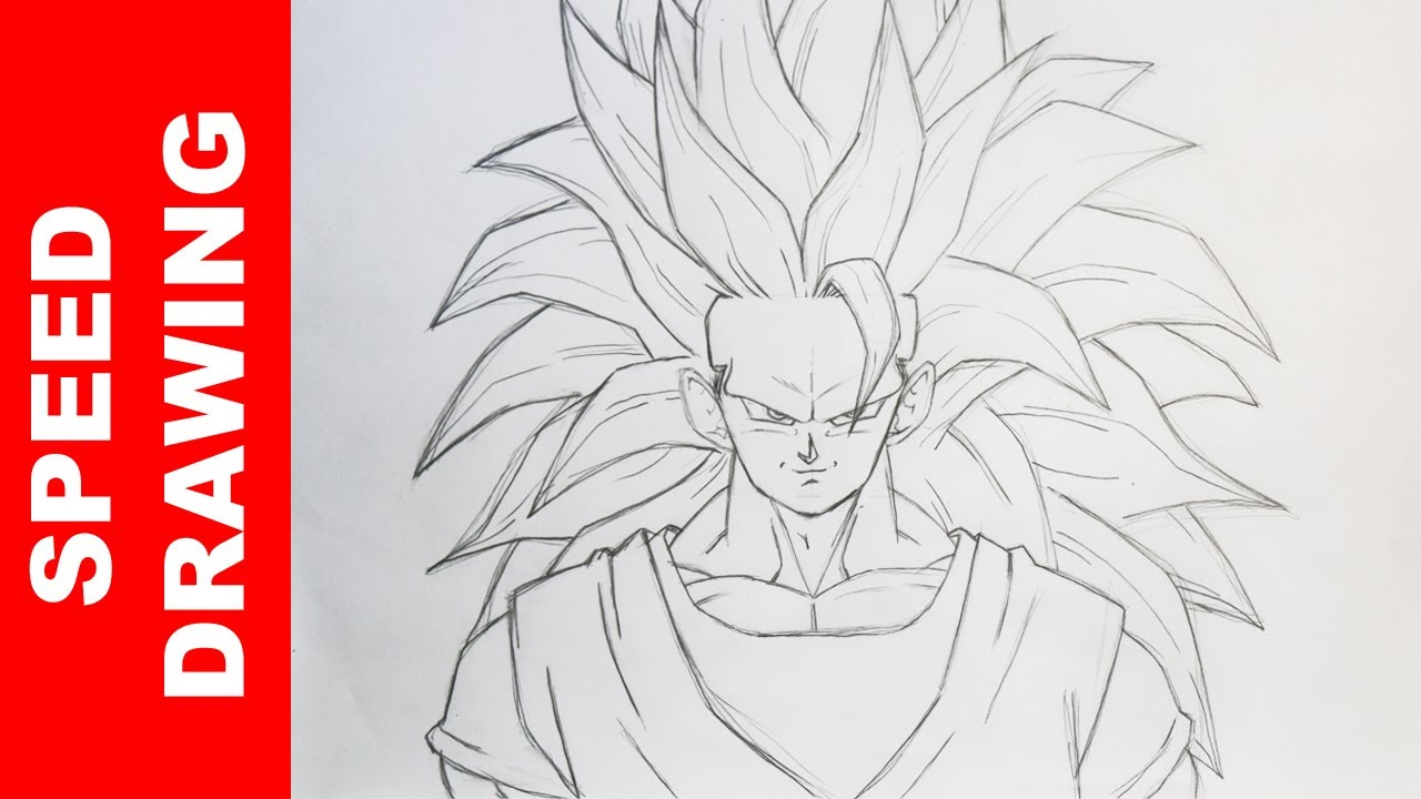 Comment dessiner goku ssj3 dbz youtube - Dessin sangoku ...