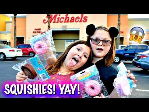 OMG! NEW SQUISHIES AT MICHAELS! AND TOKYO WORLD!! ~ BESTIES SQUISHY HUNTING VLOG!