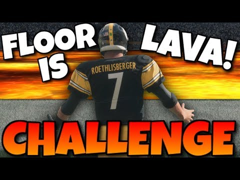 EXTREME THE FLOOR IS LAVA CHALLENGE!! Madden 18 MUT Draft
