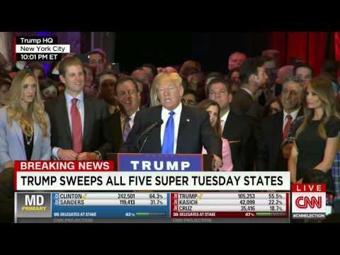 Donald Trump victory speech 4/26