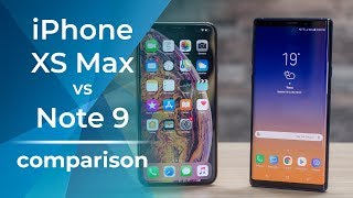 Apple iPhone XS Max vs Samsung Galaxy Note 9