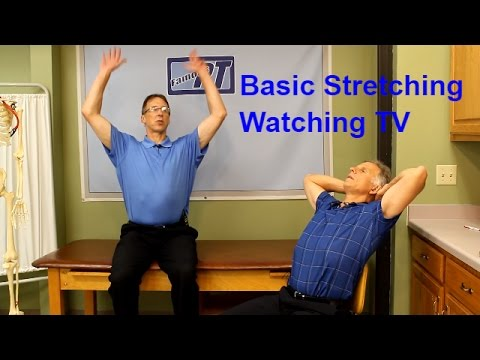 Basic Stretching Exercises while watching T.V. (for Beginners)