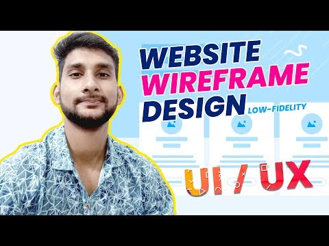 How to design Website Wireframe using Photoshop | Ui/Ux Tutorial | Bangla Tutorial thumbnail