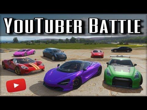 The Ultimate YouTuber Dragrace | Forza Horizon 4 | ft. Shmee150, Salomondrin, Jelly & more!! thumbnail