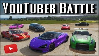 The Ultimate YouTuber Dragrace | Forza Horizon 4 | ft. Shmee150, Salomondrin, Jelly & more!!
