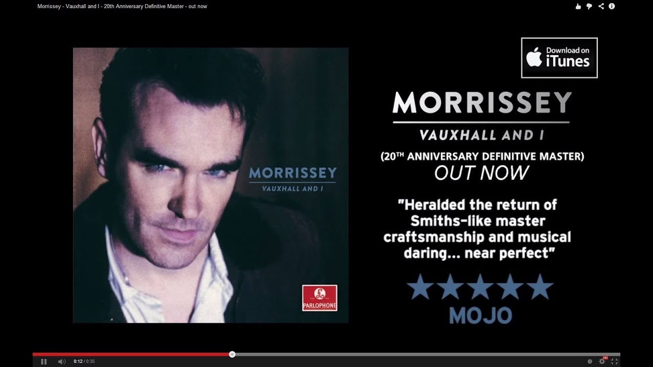 Morrissey Vauxhall And I 20th Anniversary Definitive