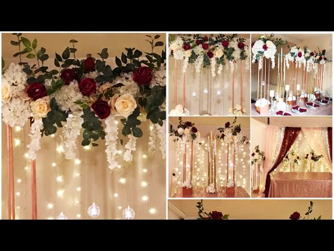 DIY- tall centerpiece DIY- tall taper candleholders DIY-wedding Decor Diy- tall modern rectangle