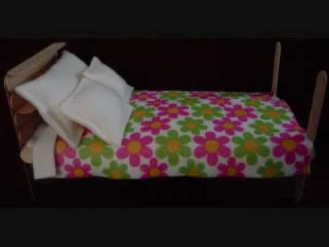 Easy Arts And Crafts Popsicle Bed For Dolls Up To 115 Inches