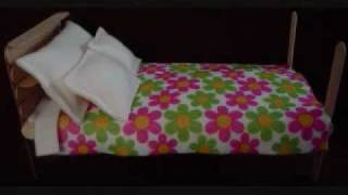 Easy Arts And Crafts: Popsicle Bed For Dolls Up To  11.5 Inches
