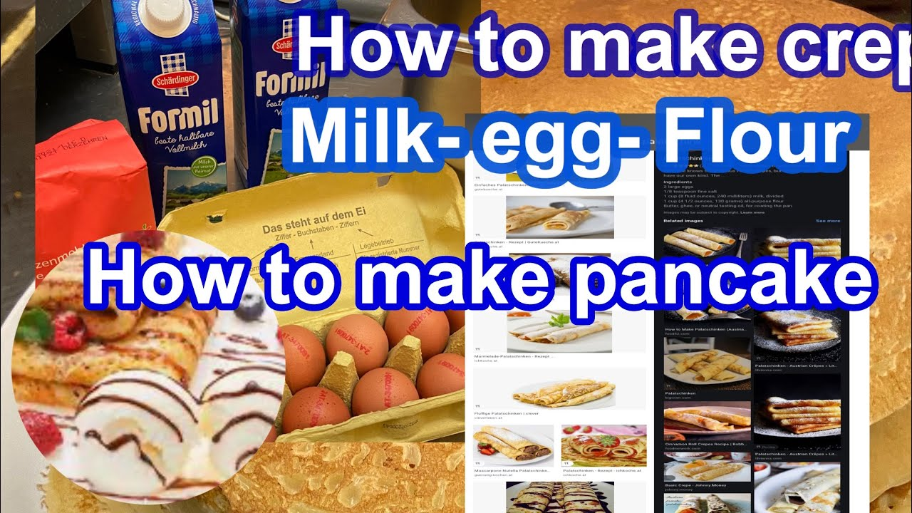 How to make easy palatschinken#pancake#Icepalatschinken#frittaten soup#howtomakecrepes