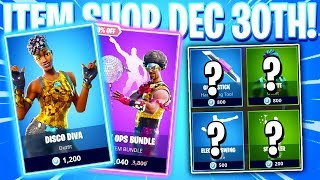 Fortnite Item Shop! DISCO DIVA! Daily & Featured Items! (December 30th 2018)