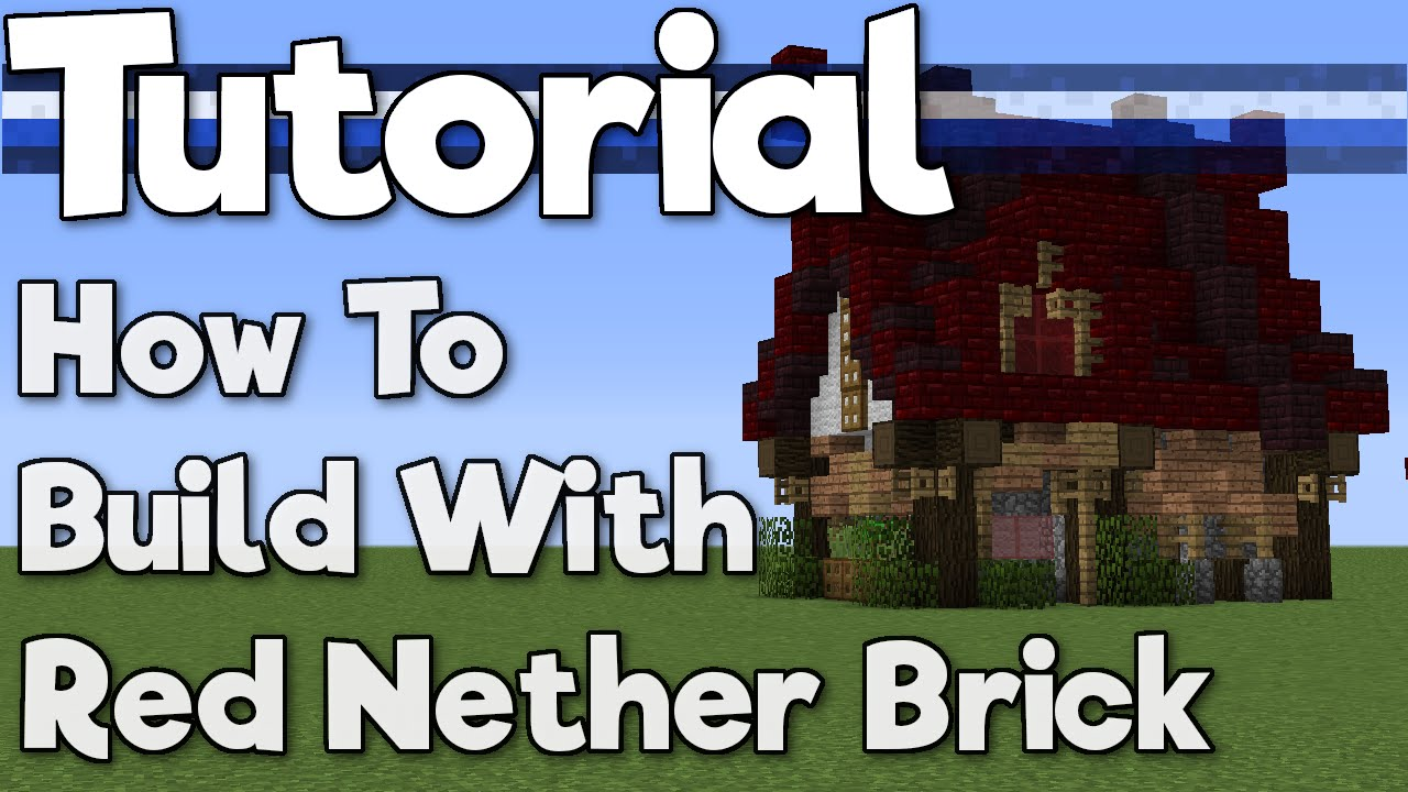 Minecraft 11.111: How to Build with Red Nether Brick! [Tutorial]