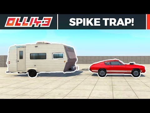 BeamNG Drive - Spike Trap Challenge!