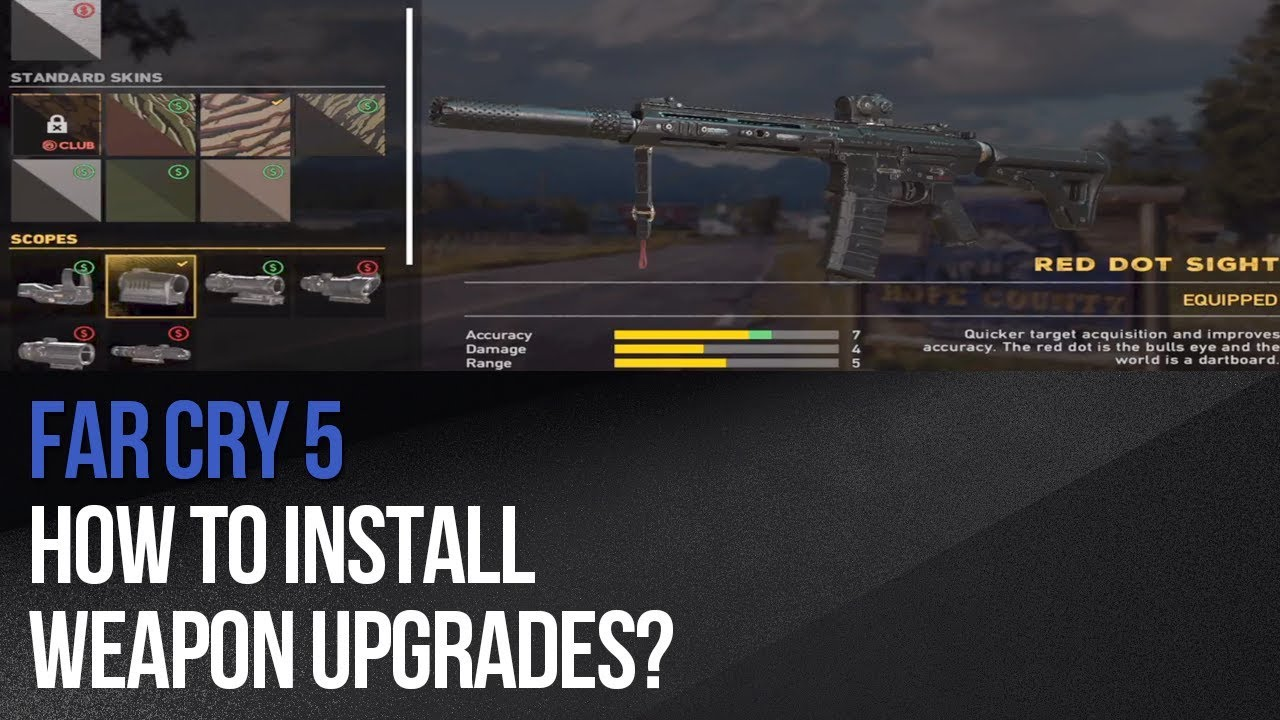Far Cry 5 How To Install Weapon Upgrades Youtube