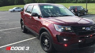 Police Interceptor Utility Outfitted with Code 3 Lights