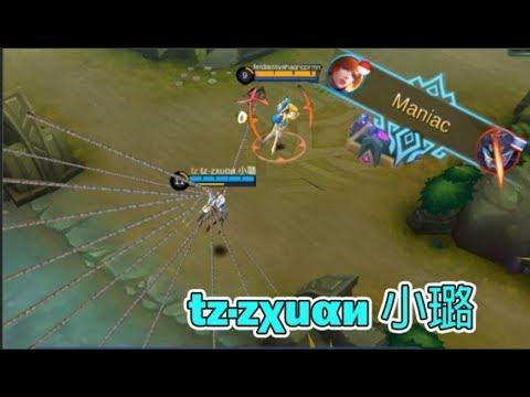 RANK 1 FANNY - tz·zχuαи 小璐 | 1 HP TOWER DIVE | INSANE MANIAC QUADRAKILL (Mobile Legends)