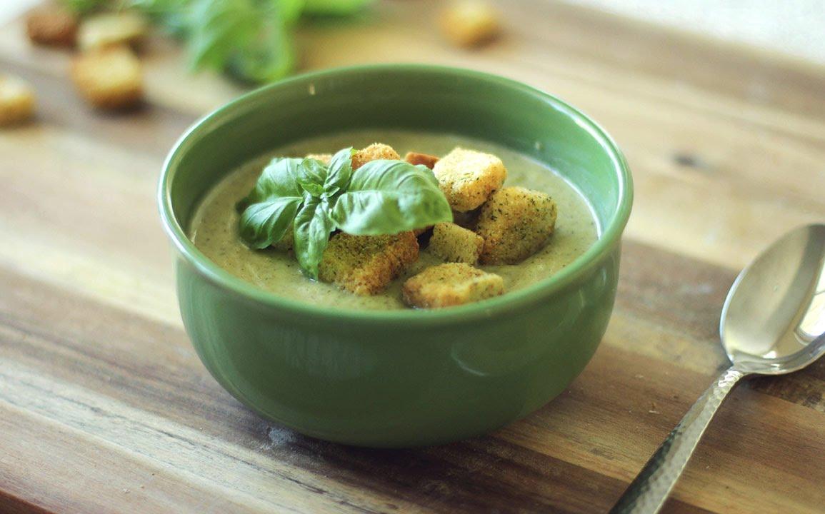 как приготовить крем суп из брокколи и сухариков